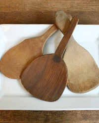 Antique Country Wood Butter Paddle