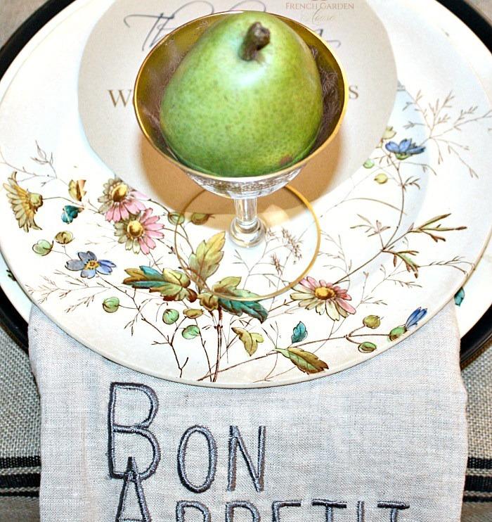 19th Century Floribel Polychrome Ironstone Dinner Plate Set of 8