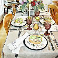 19th Century Floribel Polychrome Ironstone Luncheon Plate Set of 8