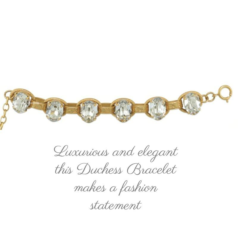 French Cushion Cut Duchess Crystals Bracelet