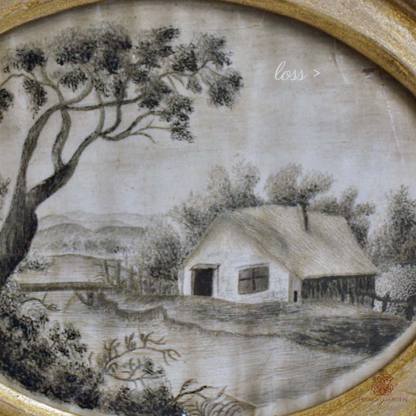 Antique Georgian Silk Work Landscape