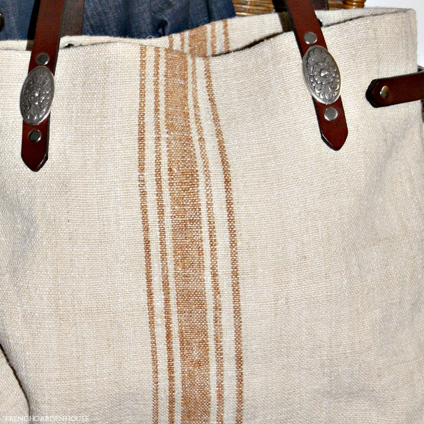 Antique French Provence Grain Sack Bag