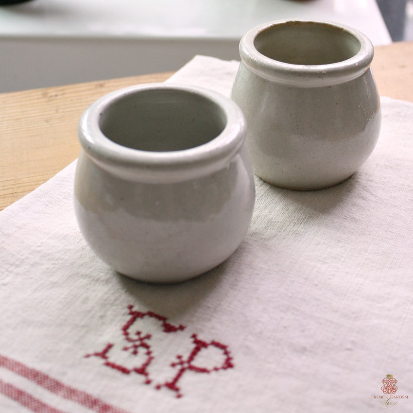 French Gres Stoneware Moutarde Pot