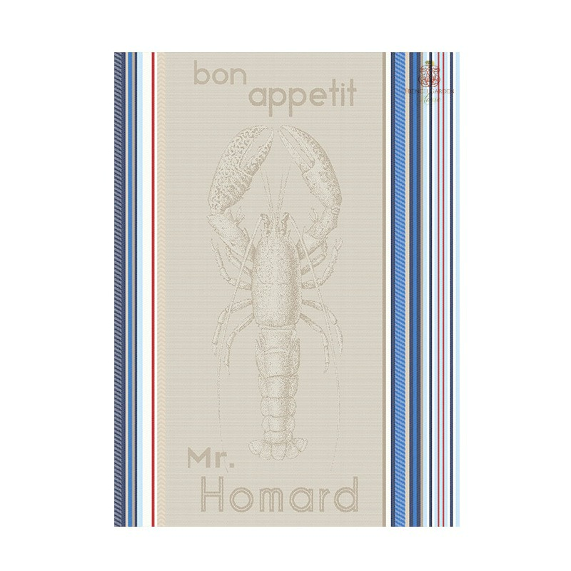 French Brittany Lobster Drying Tea Towel