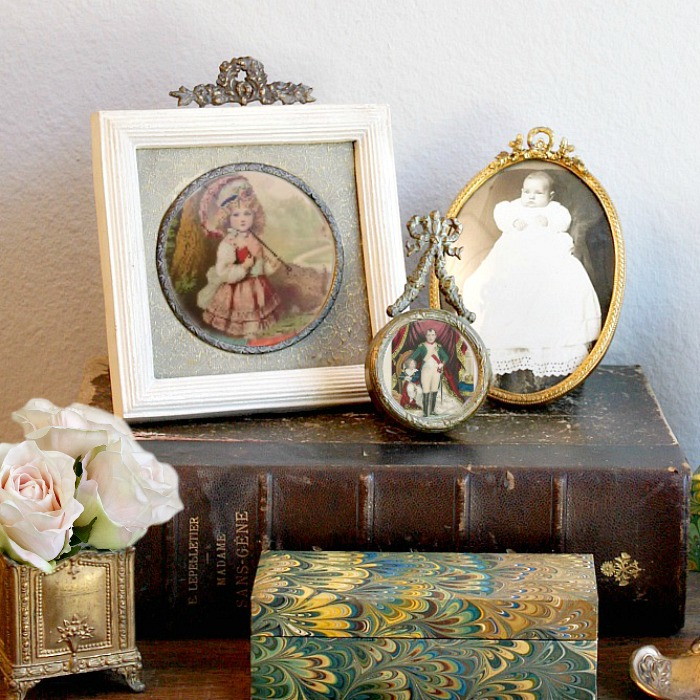 Cream and Gilt Laurel Wreath French Inspired Photo Frame