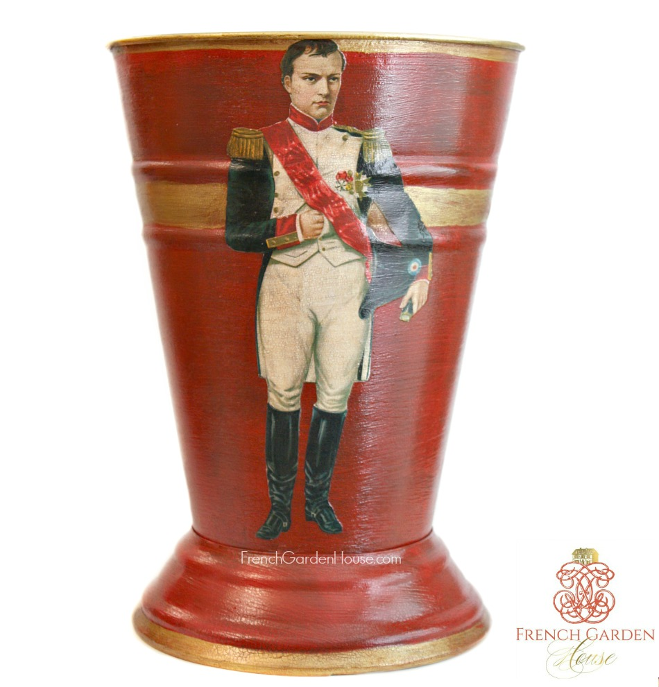 Limited Edition French Country Cachepot Napoleon Rouge