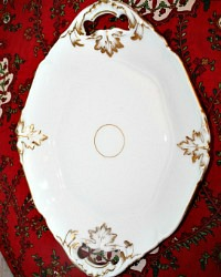 Antique Old Paris Porcelain White Serving Tray or Platter