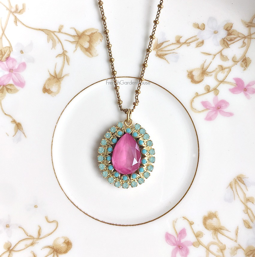 French Gold Ciel d'Orchidee Pendant Necklace