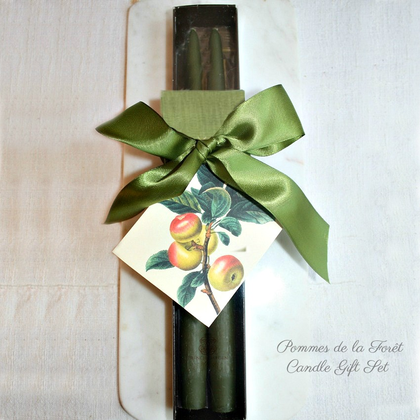 Hand Dipped Les Pommes de la Foret Taper Candles Gift Set