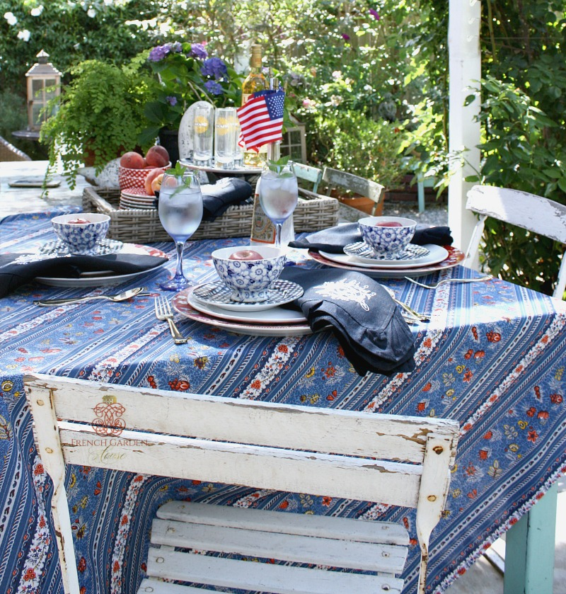 French Country Classic Provence Blue Tablecloth