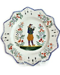 French Faience Plate Henriot Quimper