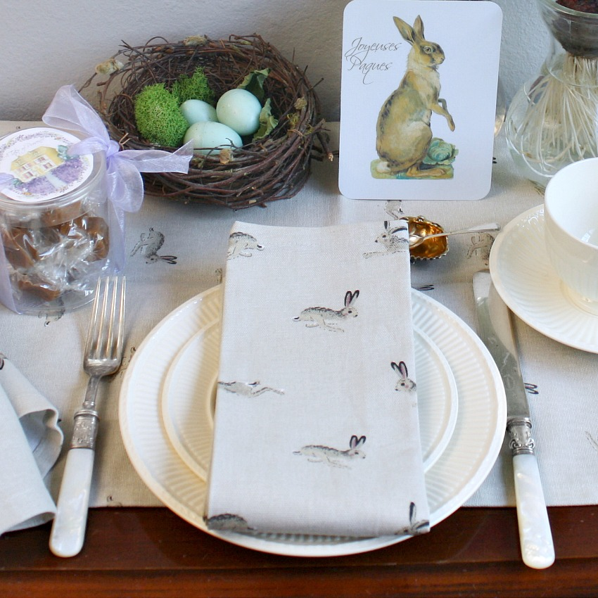 Country Bunnies Napkins Set of 4
