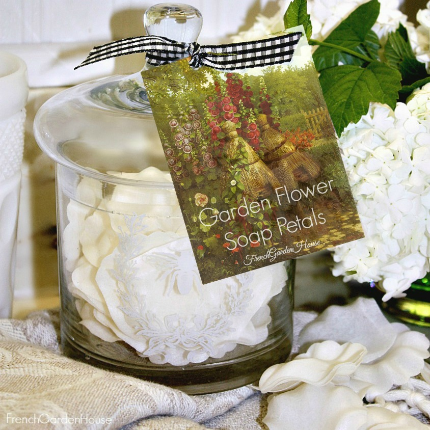 French Rose Petal Guest Soap in Bee Apothecary Jar