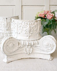 Antique Architectural Salvage Corinthian Column Capital