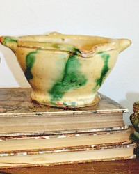 Antique French Country Glazed Bowl