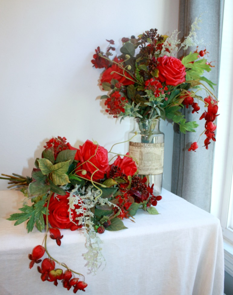 Winter's Love Red Rose Bouquet