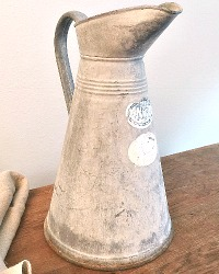 French Country Zinc Pitcher