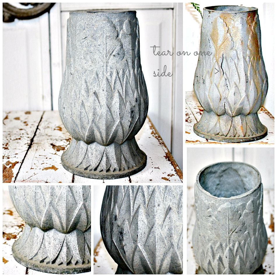 Antique French Cast Cemetery Vase