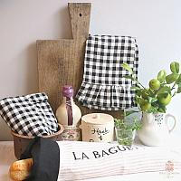 Striped Linen French La Baguette Bread Bag