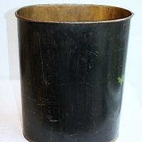Vintage Hand Painted Floral Tole Oval Wastebasket