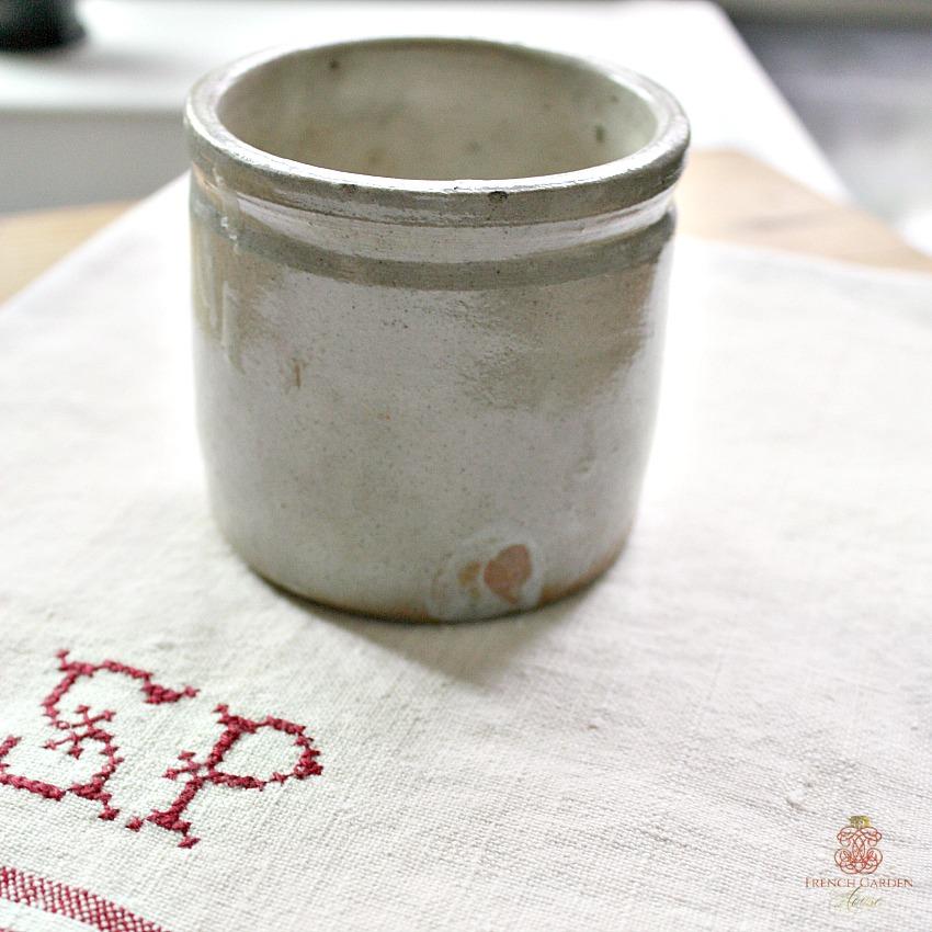 French Farmhouse Gres Stoneware Confiture Pot