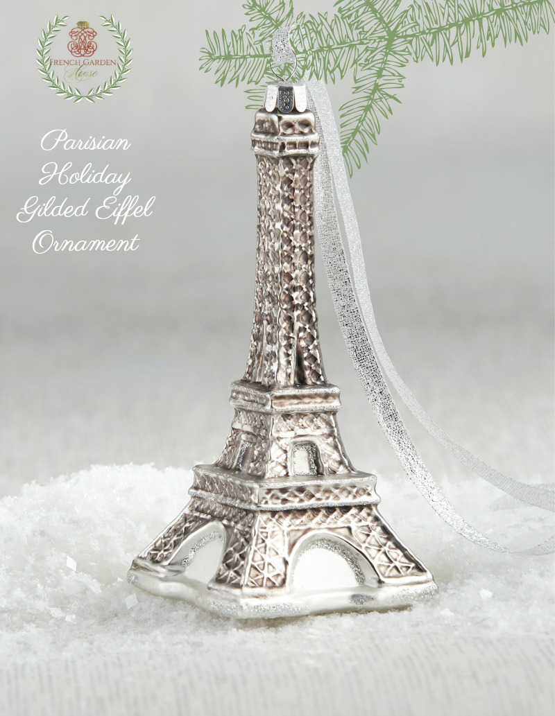 Parisian Holiday Gilded Eiffel Ornament