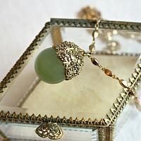 Green Leaf  Drop Necklace
