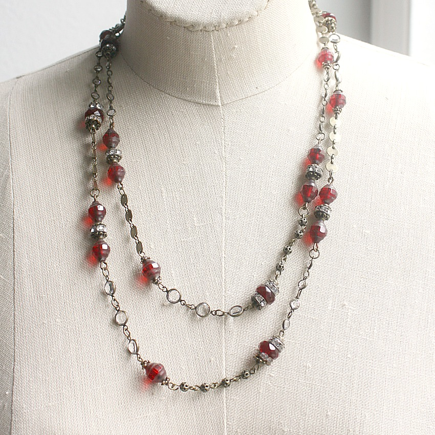 J'adore Rouge Layering Necklace