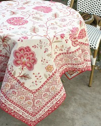 French Avignon Rose Table Throw