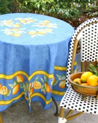 French Avignon Cotton Menton Round Tablecloth