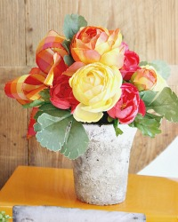 French Country Floral Pot Citrus Colors