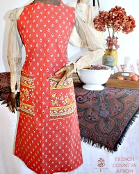 French Country Provence Traditional Apron