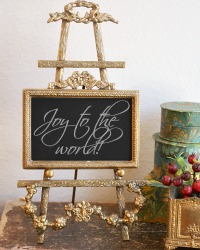 French Louis XVII Style Brass Photo Frame and Easel