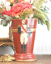 French Country Cachepot Napoleon Rouge