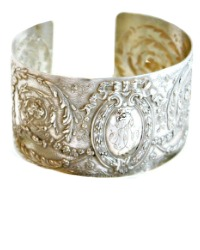KDL Antique French Sterling Silver Cuff Bracelet M R