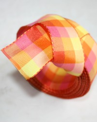 Spring Brights Decorative Checked Ribbon