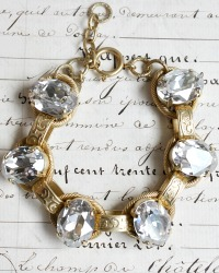 French Cushion Cut Duchess Crystals Bracelet