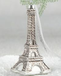 Parisian Holiday Gilded Eiffel Ornament