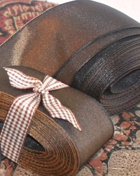 French Wired Chocolat Faille Ribbon