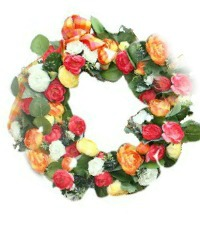French Country Warm Brights Wreath