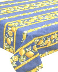 French Avignon Cotton Menton Citron Tablecloth