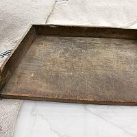 19th Century French Country Cutting Board with Gallery Sides