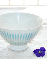 Antique French Blue Cafe au Lait Bowl