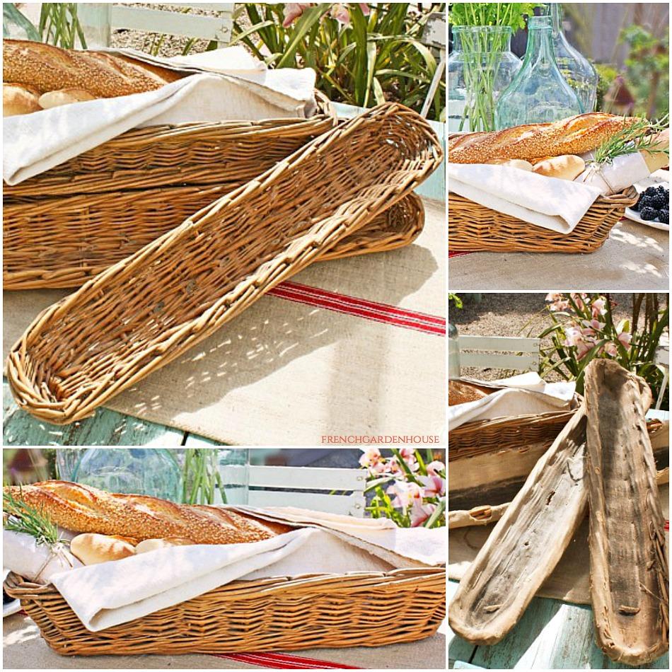 "Antique Handwoven French Hotel Banneton Baguette Bread Basket 33"""