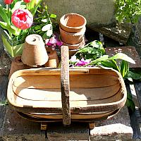 Hand Made Chestnut and Willow Sussex Garden Trug