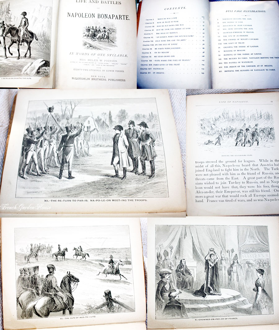 Antique Children's Book The Life of Napoleon Bonaparte Illustrated 18