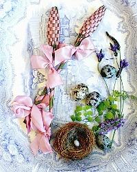 Hand Woven Provence Lavender Fuseau de Lavande Rose