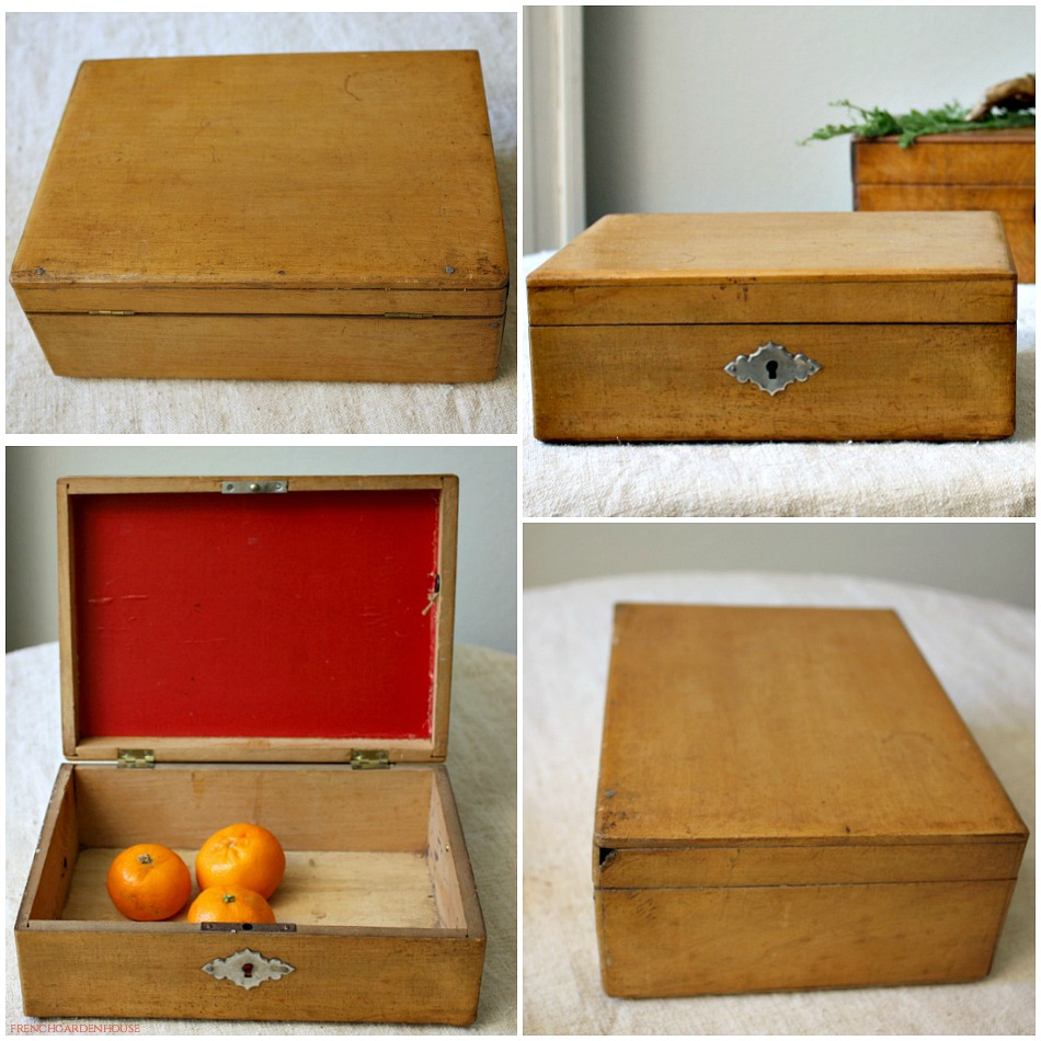 Vintage French Country Wood French Box