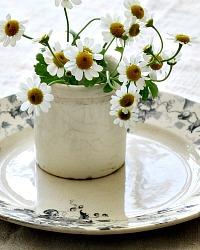 Antique French Miniature Pots Cream Faience