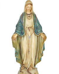 French Large Virgin Mary Chalkware Madonna